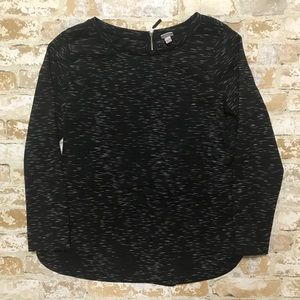 Merona Black and White Athletic Sweatshirt Top